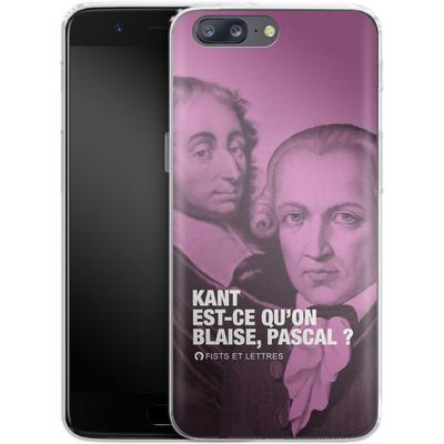 OnePlus 5 Silikon Handyhuelle - Kant Blaise Et Pascal von Fists Et Lettres
