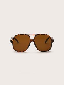Men Top Bar Square Frame Sunglasses