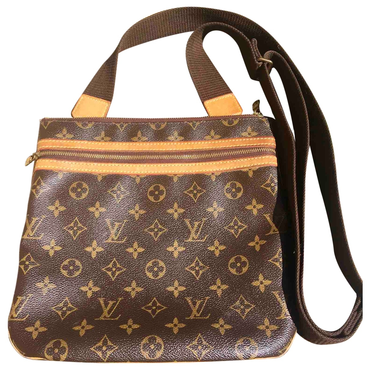 Louis Vuitton Bosphore Handtasche in  Braun Leinen