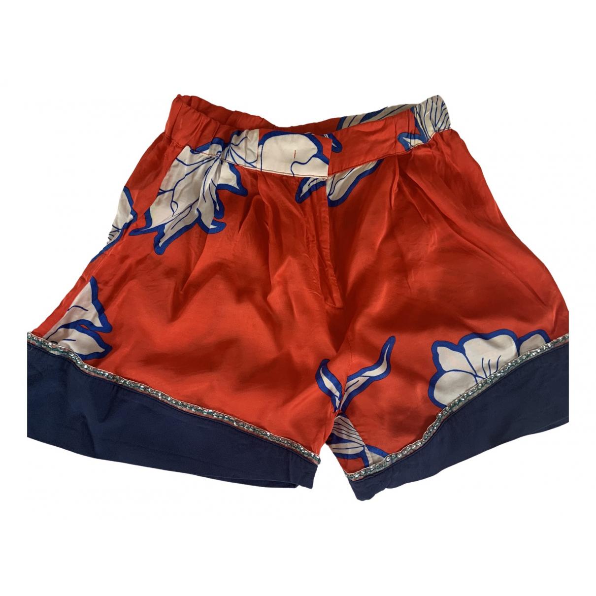 Pinko \N Shorts in  Rot Viskose