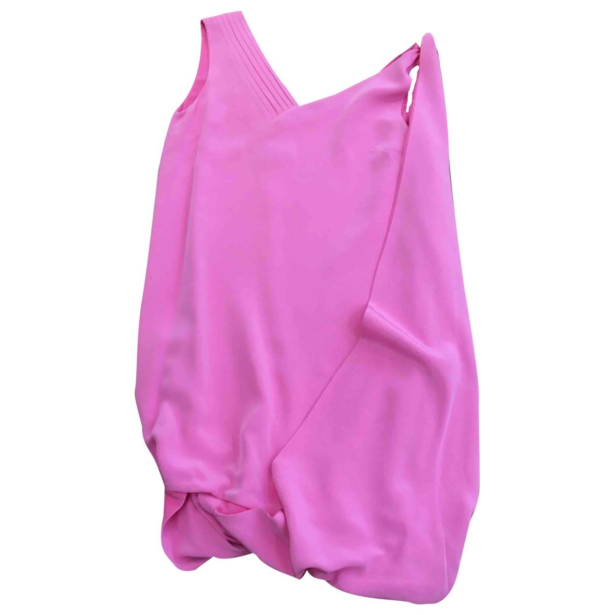 Mila Schon Concept \N Kleid in  Rosa Seide