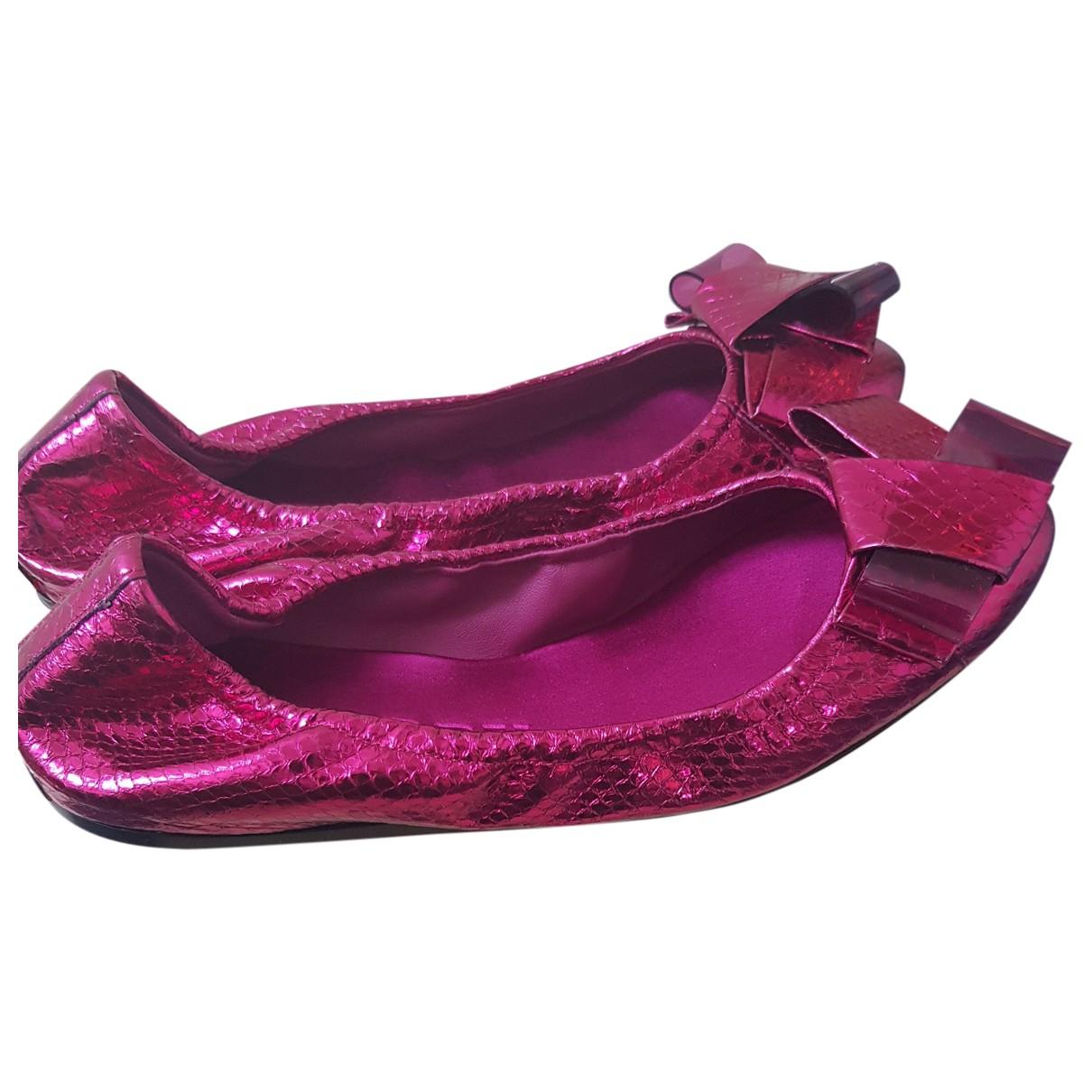Burberry - Ballerines   pour femme en cuir - rose