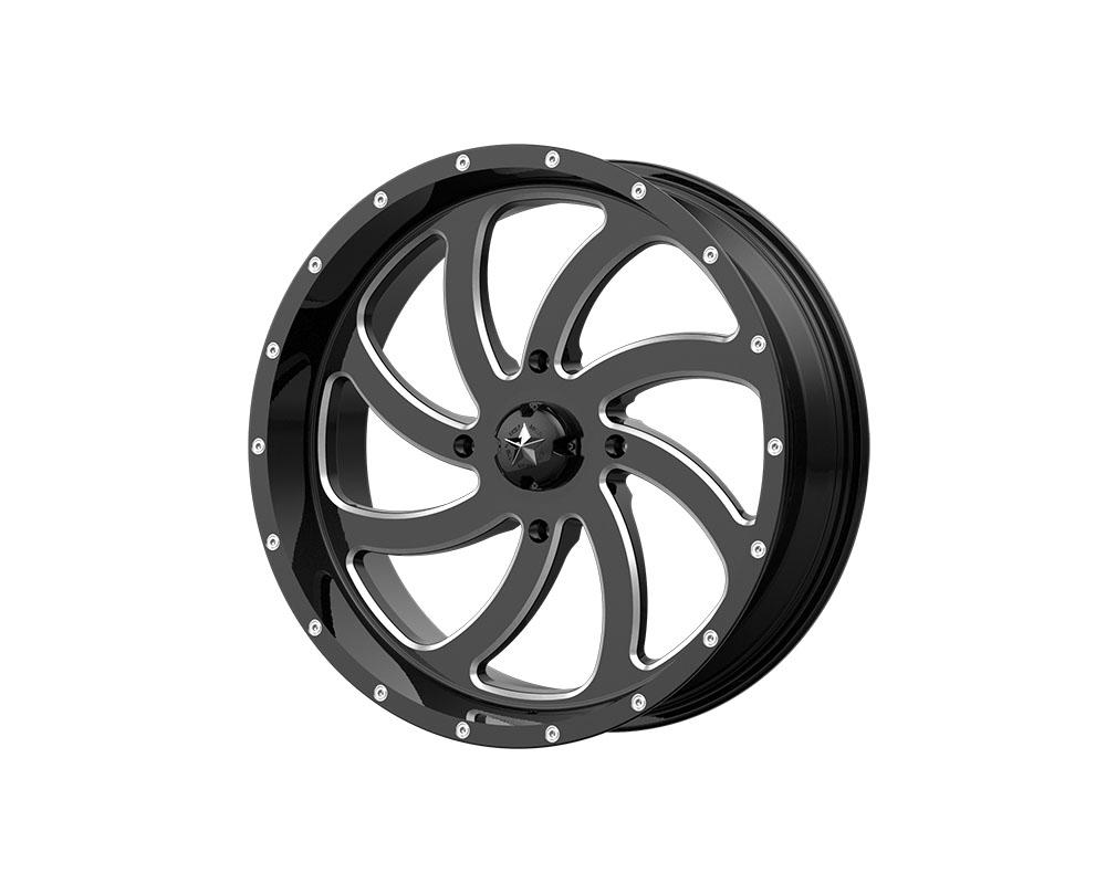 MSA Offroad Wheels M36-024737M M36 Switch Wheel 24x7 4x4x137 +0mm Gloss Black Milled