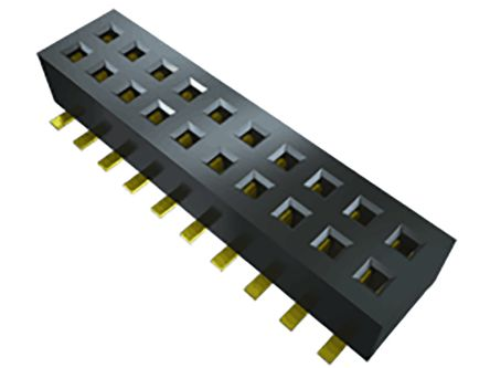 Samtec , CLP 1.27mm Pitch 10 Way 2 Row Right Angle PCB Socket, Surface Mount, Solder Termination (86)