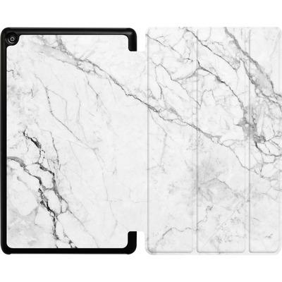 Amazon Fire HD 8 (2017) Tablet Smart Case - White Marble von caseable Designs