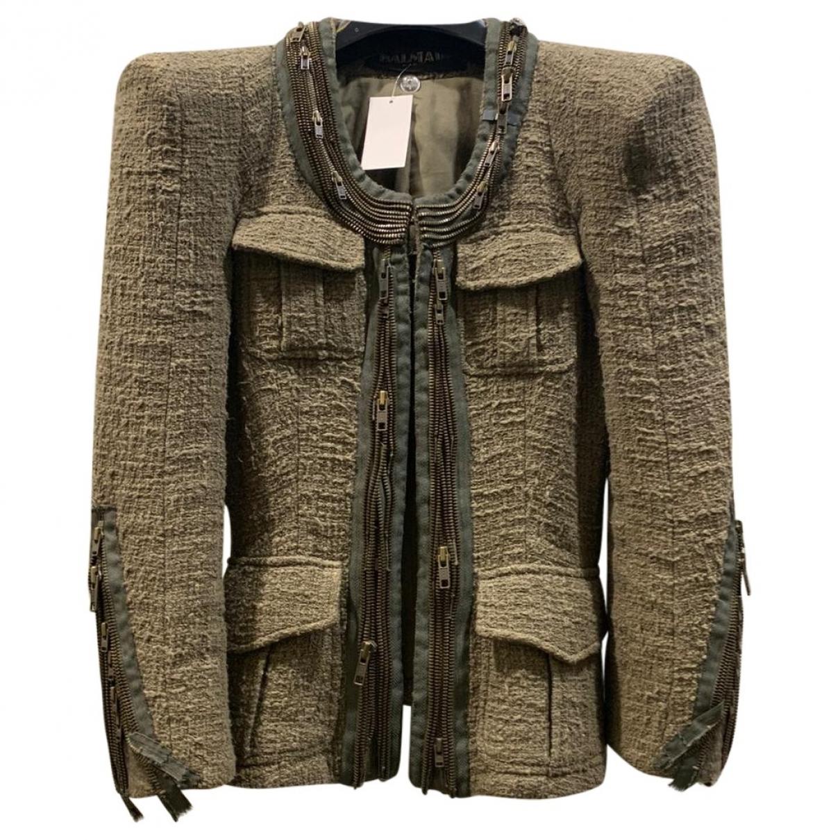 Balmain - Veste   pour femme en coton - beige
