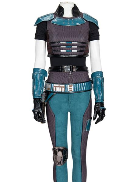 Milanoo The Mandalorian Cosplay Costumes Polyester Acetate Lining Full Set TV Movie Star Wars Cosplay Costume