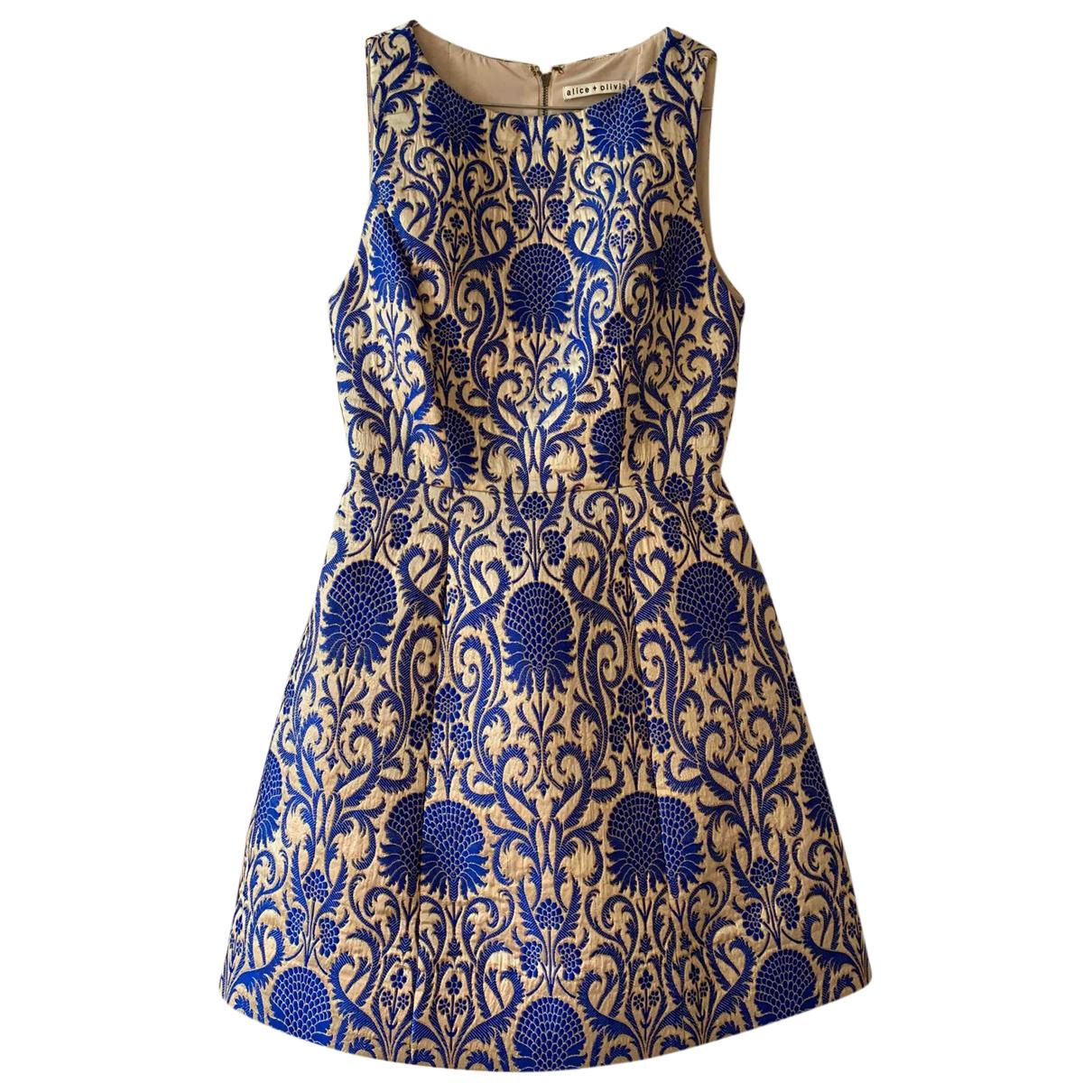 Alice & Olivia \N Kleid in  Gold Viskose