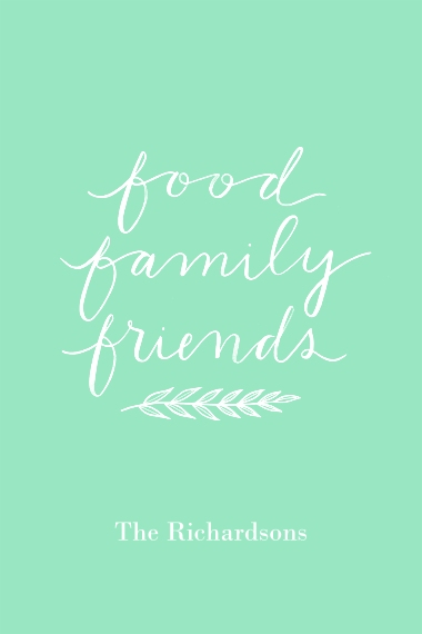 Non-Photo 12x18 Poster, Home Décor -Food Family Friends