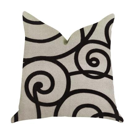 Truffle Collection PBRA1383-2030-DP Double sided  20 x 30 Queen Plutus Moda Capella Black and White Luxury Throw