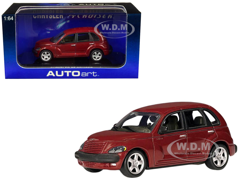 2001 Chrysler PT Cruiser Dark Red Metallic 1/64 Diecast Model Car by Autoart