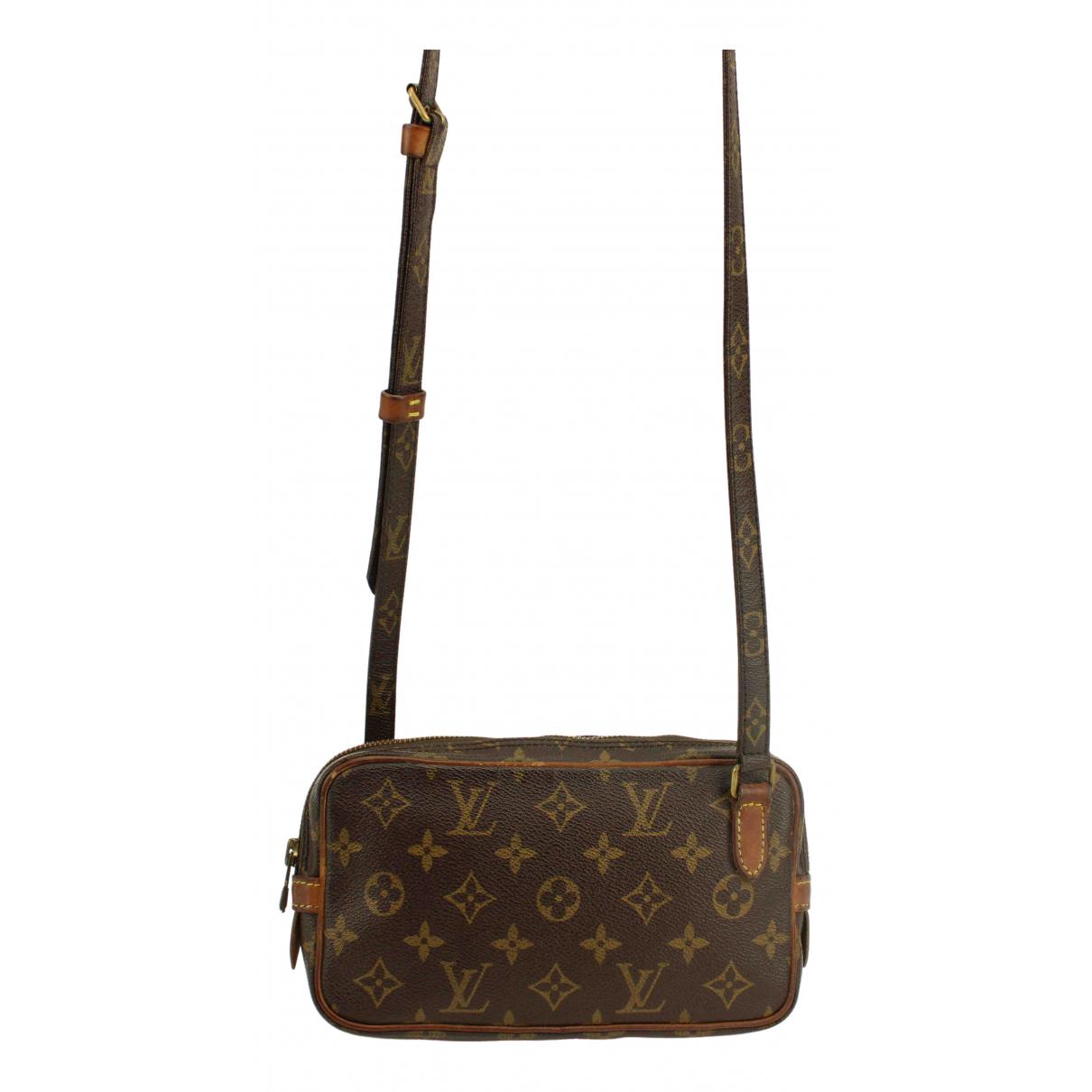 Louis Vuitton - Pochette Marly vintage pour femme en toile - marron