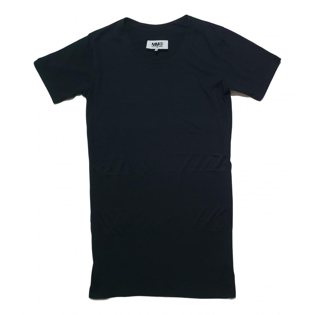 Mm6 - Robe   pour femme en coton - noir