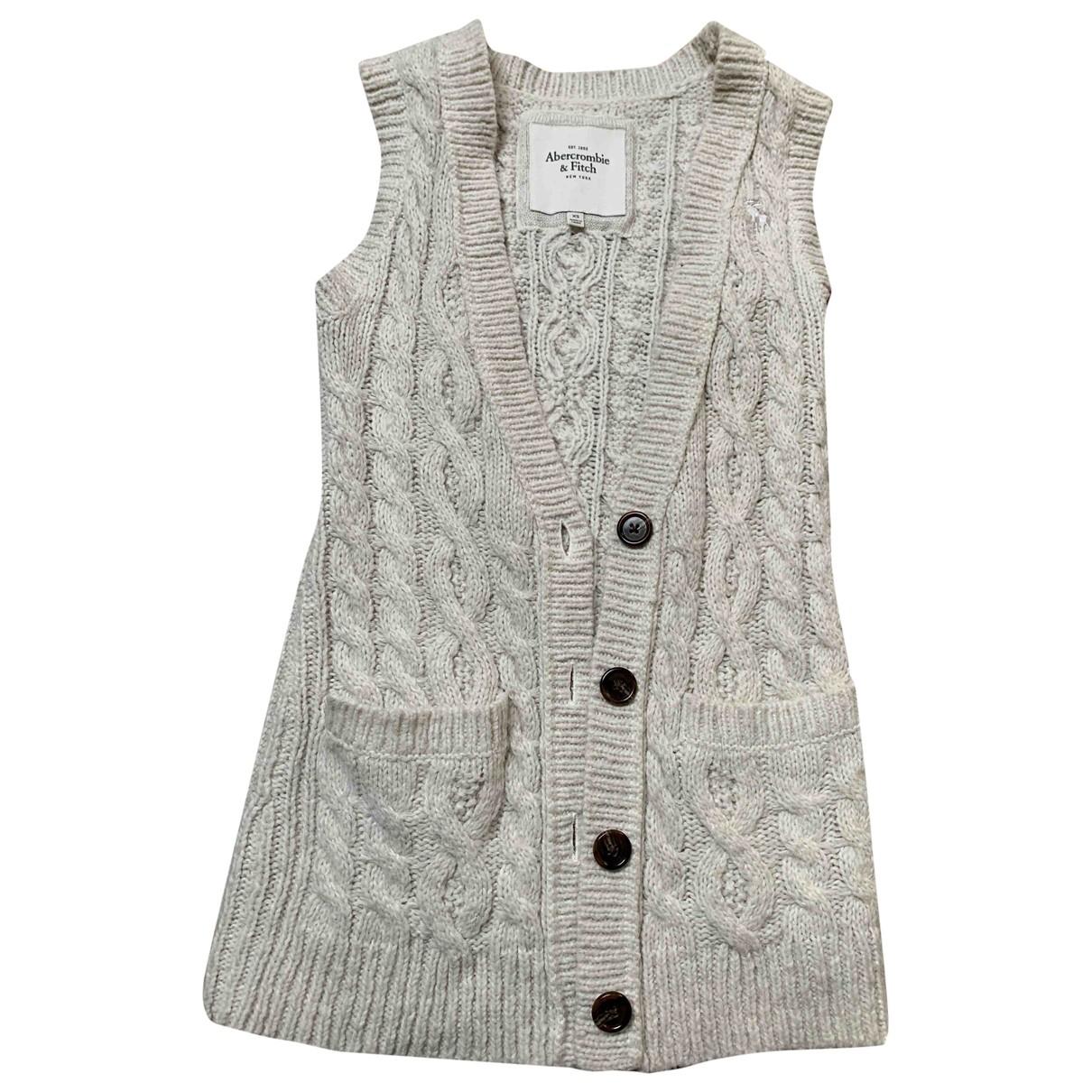 Abercrombie & Fitch - Pull   pour femme en laine - ecru
