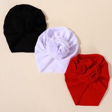 3pcs Baby Solid Turban Hat