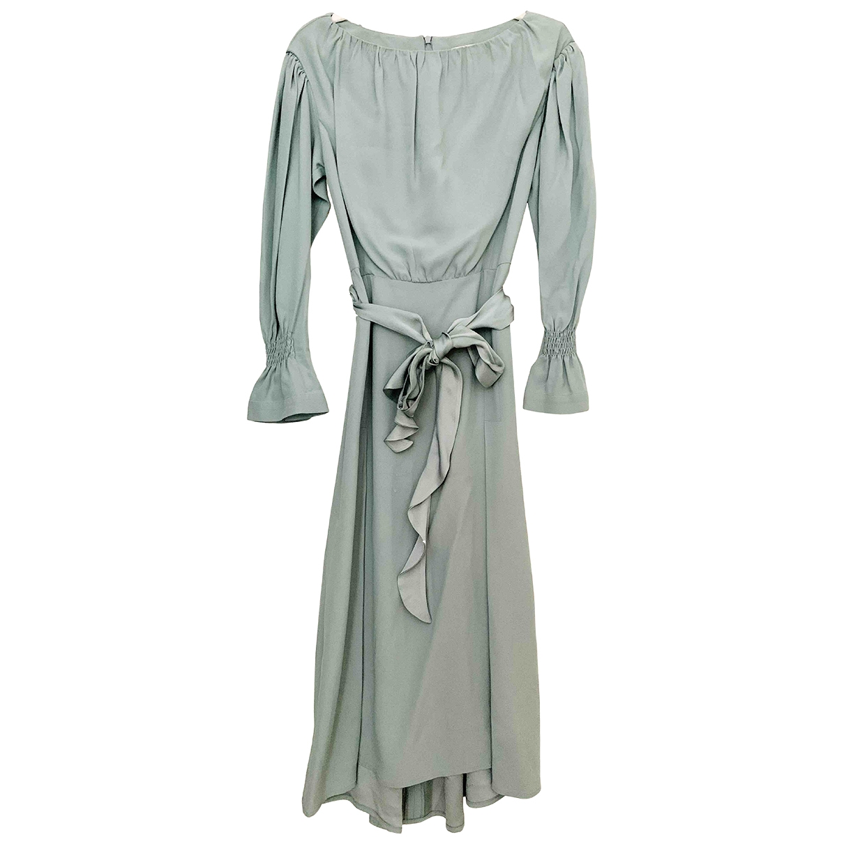 Eudon Choi \N Green Silk dress for Women 8 UK
