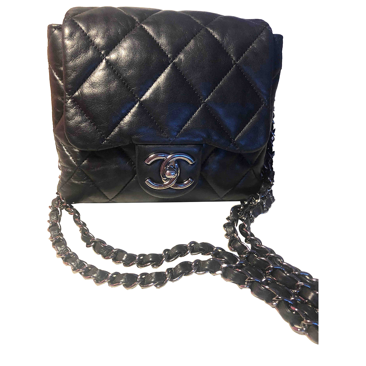 Chanel 2.55 Black Leather handbag for Women N