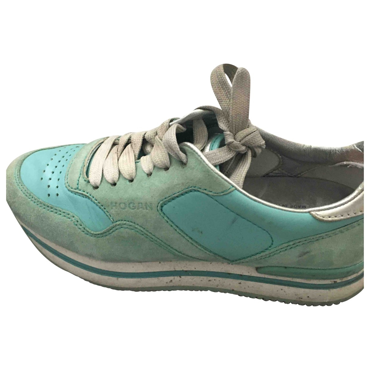 Hogan \N Turquoise Suede Trainers for Women 36 EU