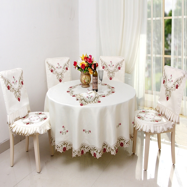 Super Fit Polyester Fibre Washable Flower Pattern Dining Chair Covers