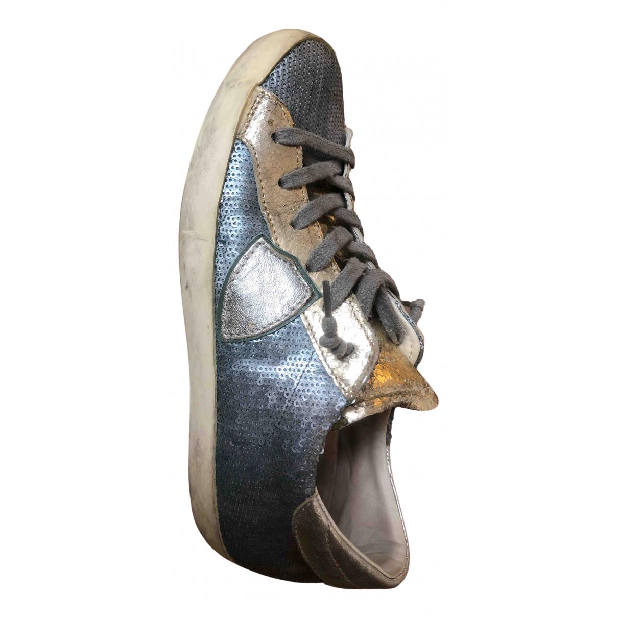 Philippe Model \N Sneakers in  Blau Mit Pailletten