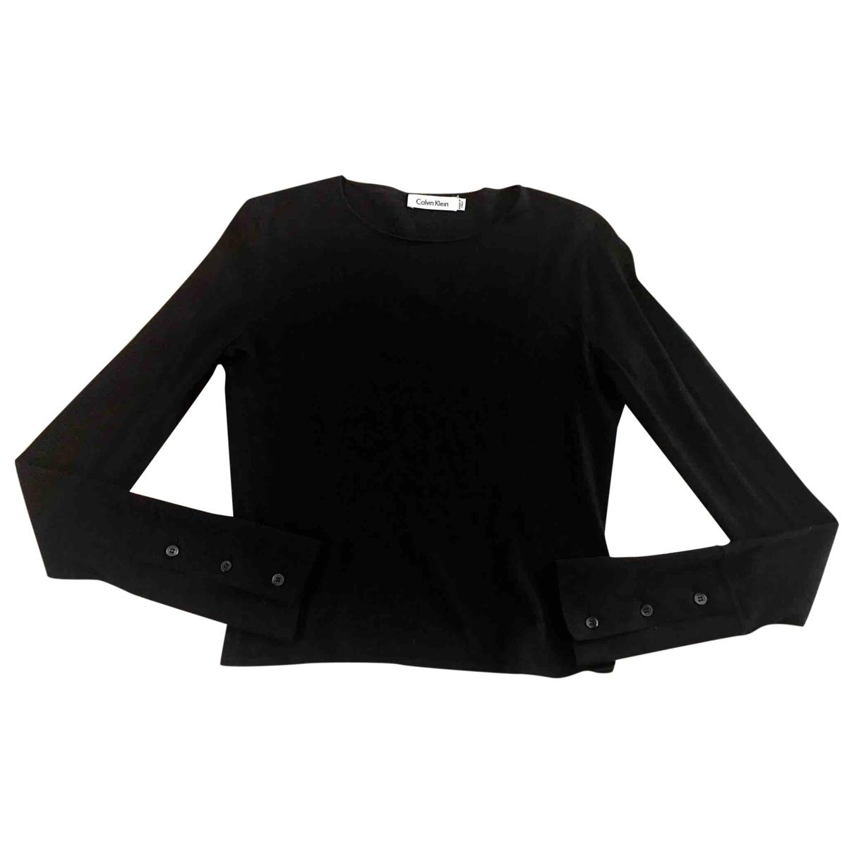 Calvin Klein - Top   pour femme en laine - anthracite