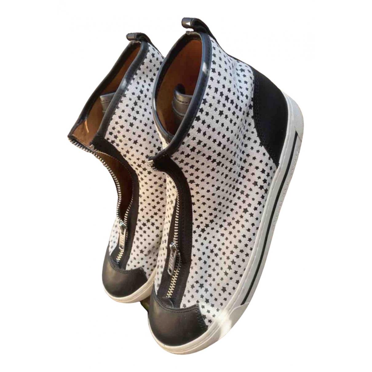 Marc By Marc Jacobs - Baskets   pour femme en cuir - blanc