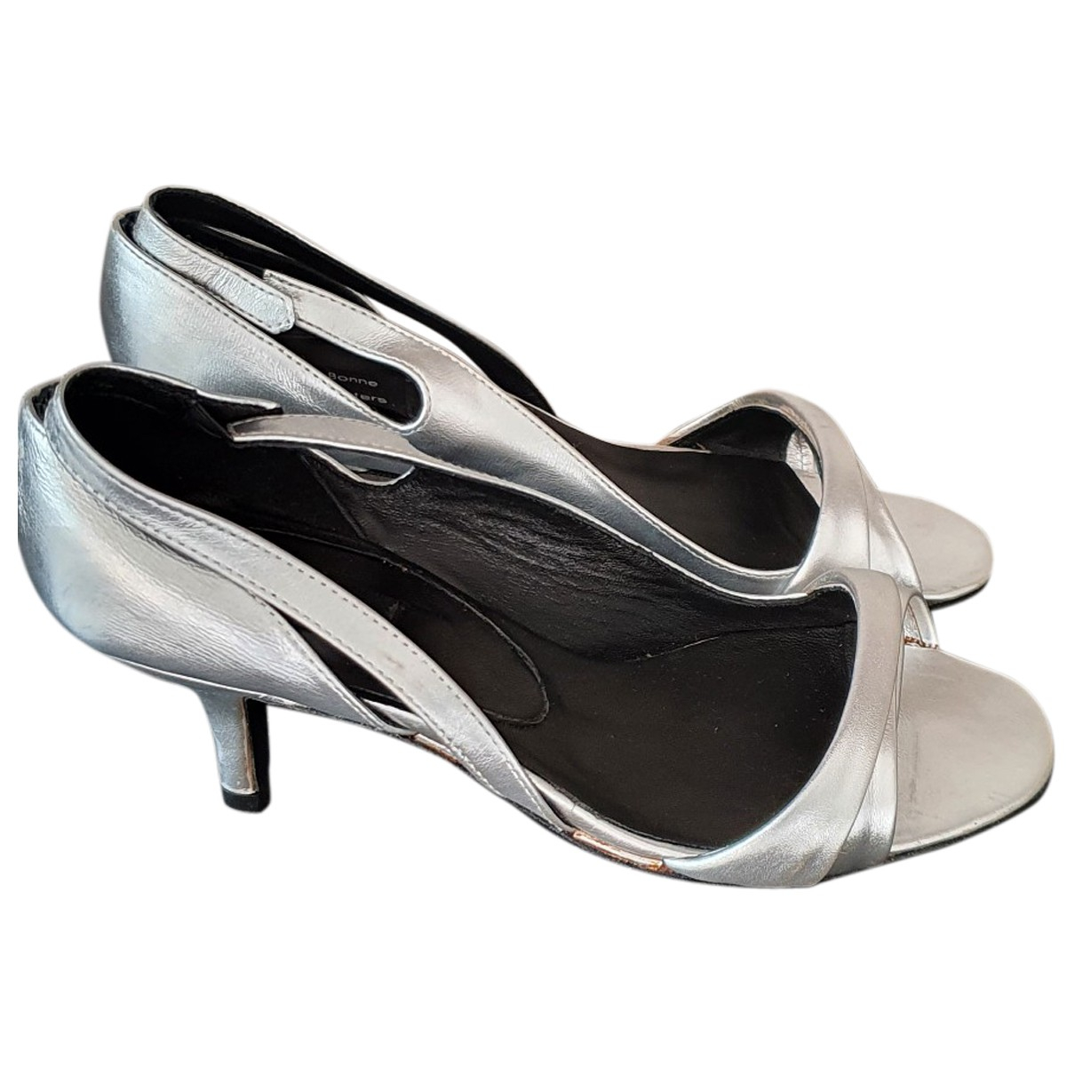 Bruno Pieters \N Silver Leather Sandals for Women 37 EU