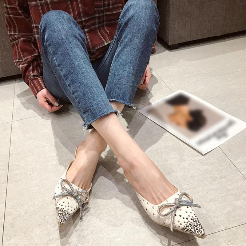 Ericdress Slip-On Closed Toe Chunky Heel Casual Slippers