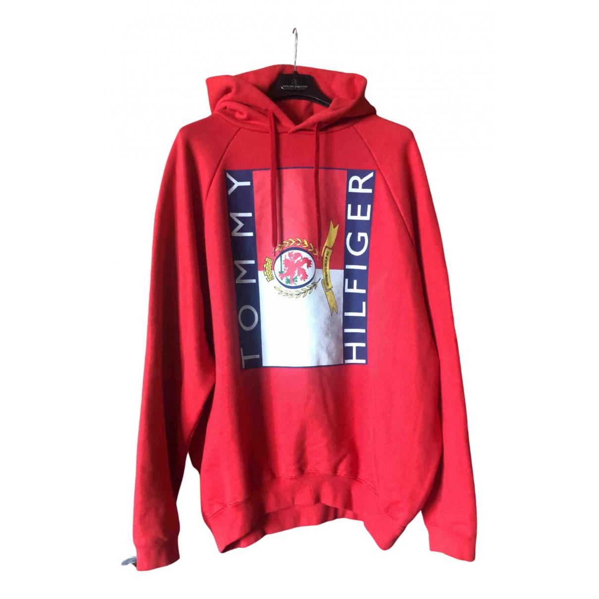 Vetements X Hilfiger \N Pullover.Westen.Sweatshirts  in  Rot Baumwolle