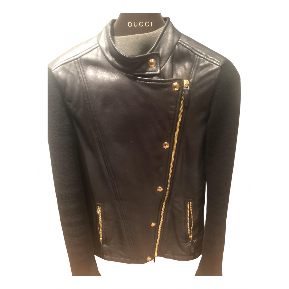 Gucci \N Black Leather jacket for Women 38 IT