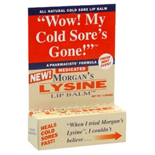 Morgans Lysine Lip Balm Medicated 0.17 oz by Morgans
