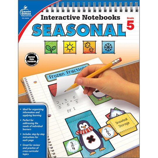 Interactive Notebooks: Seasonal Resource Book, Grade 5 By Carson Dellosa | Michaels®