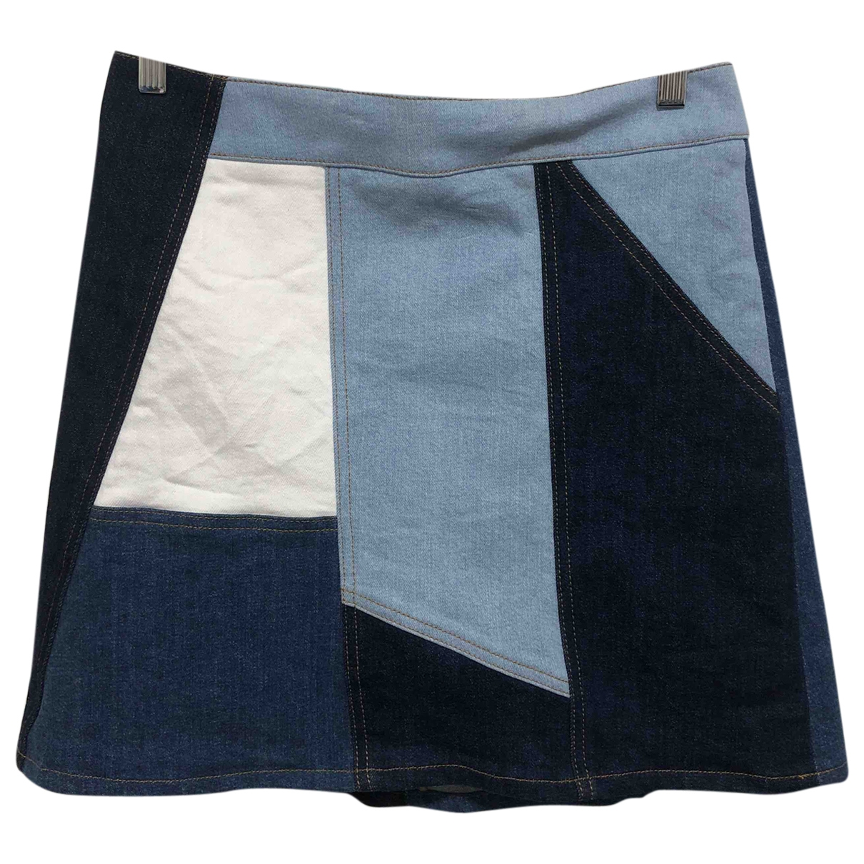 Victoria, Victoria Beckham - Jupe   pour femme en denim - bleu
