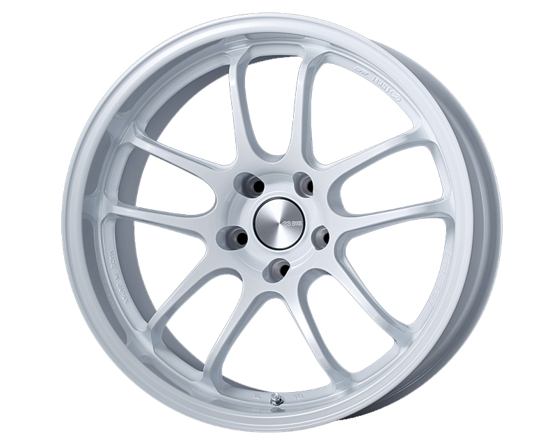 Enkei PF01EVO Wheel Racing Series White 18x9 5x114.3 25mm
