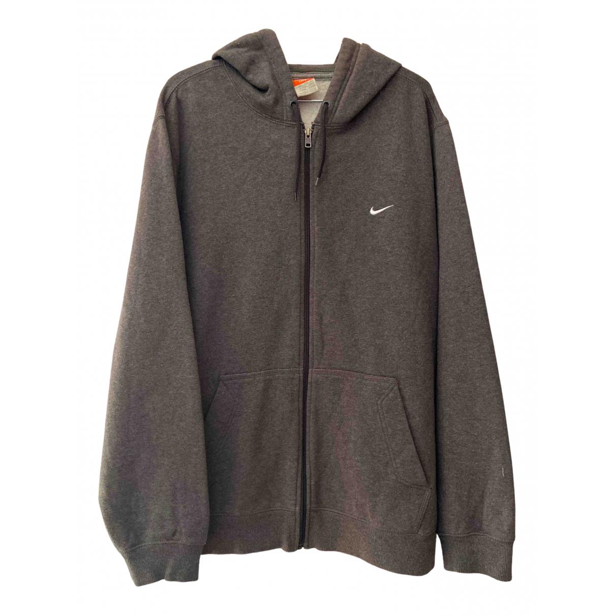 Nike \N Pullover.Westen.Sweatshirts  in  Grau Baumwolle