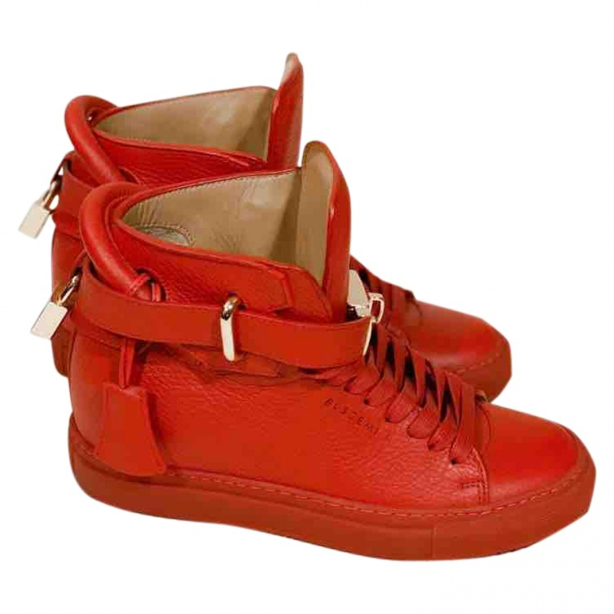 Buscemi \N Red Leather Trainers for Women 35 EU