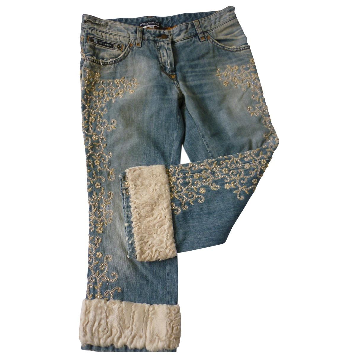 Dolce & Gabbana \N Blue Denim - Jeans Trousers for Women 42 IT