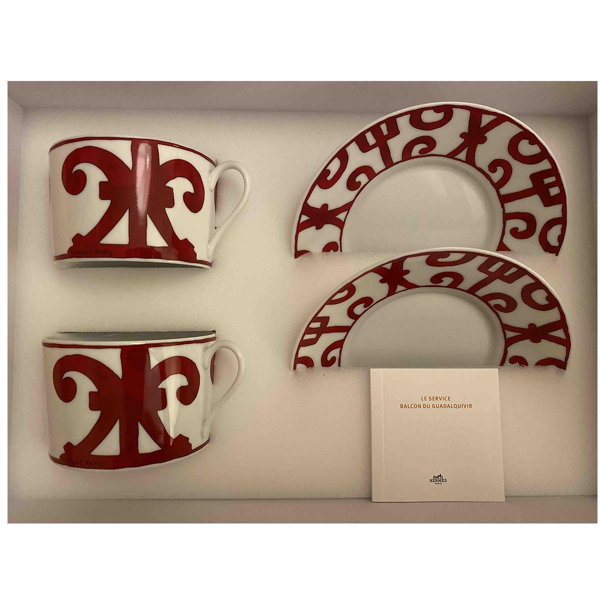Hermès Balcon du Guadalquivir Porcelain Dinnerware for Life & Living \N