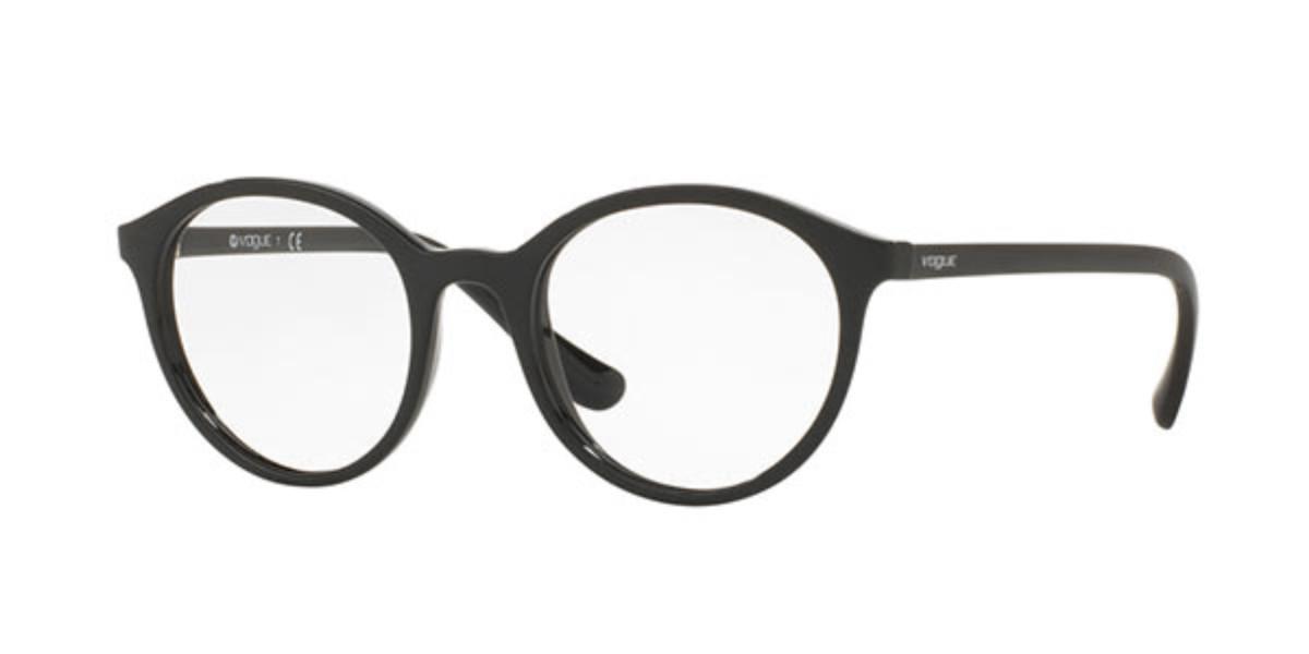 Vogue Eyewear VO5052F Asian Fit W44 Women's Glasses Black Size 52 - Free Lenses - HSA/FSA Insurance - Blue Light Block Available