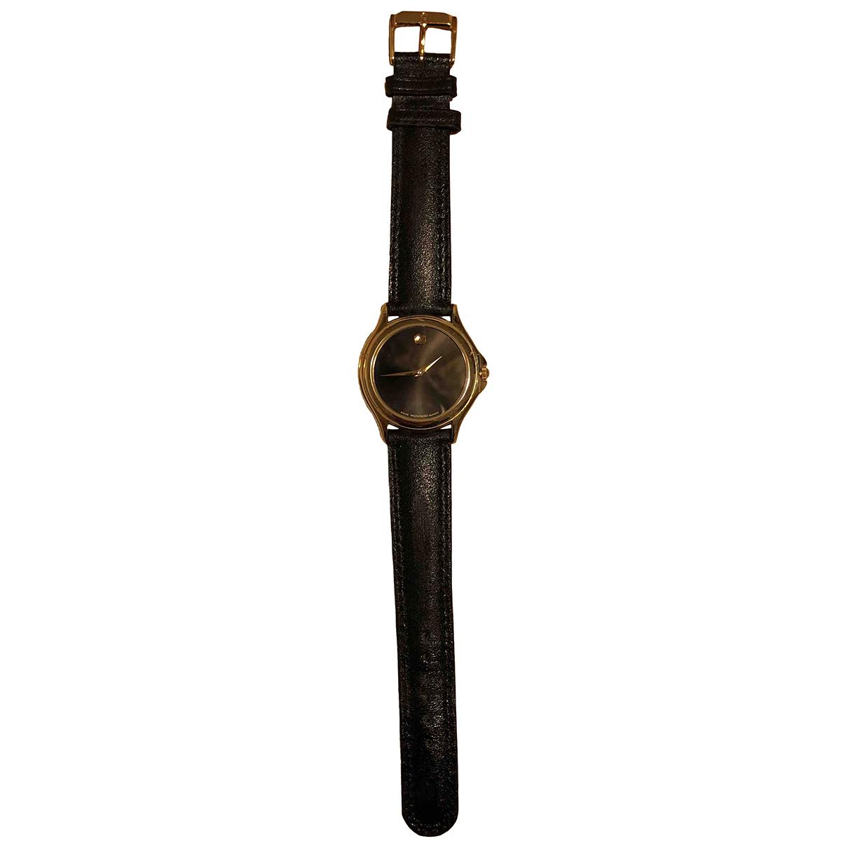 Movado N Black Steel watch for Women N