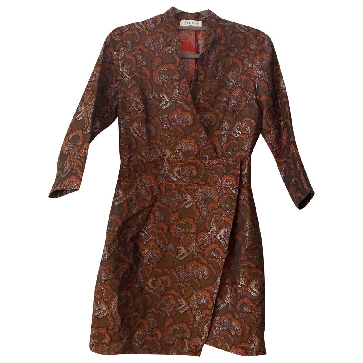 Sandro Fall Winter 2019 Kleid in  Bunt Polyester