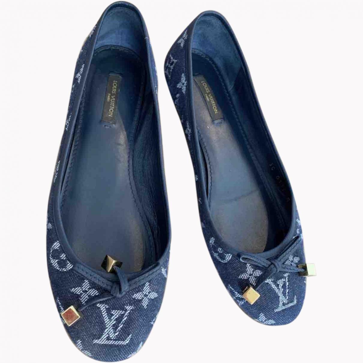 Louis Vuitton \N Blue Cloth Ballet flats for Women 38 EU
