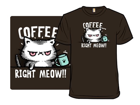 Catffeine Remix - Brown T Shirt