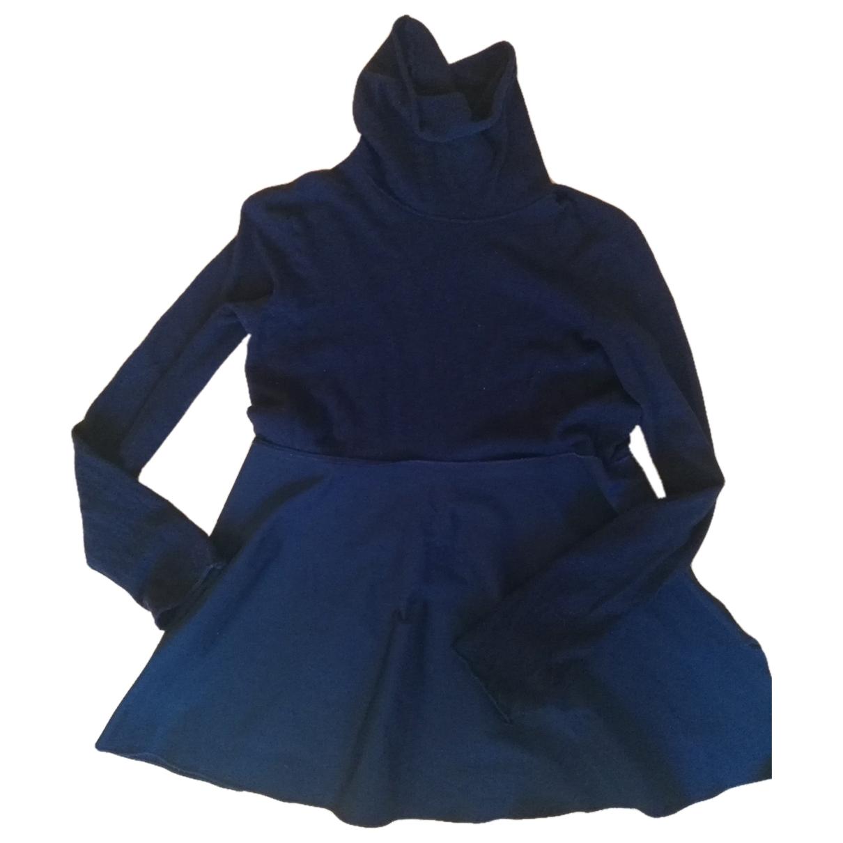 Hache - Top   pour femme en laine - marine