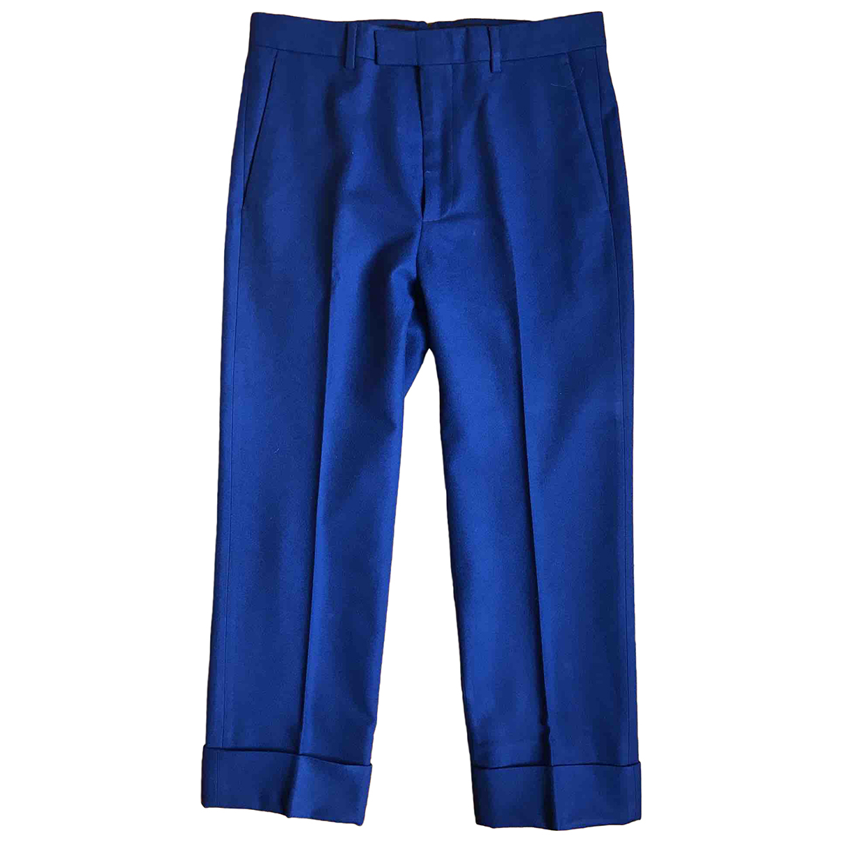 Gucci N Blue Wool Trousers for Men 46 IT
