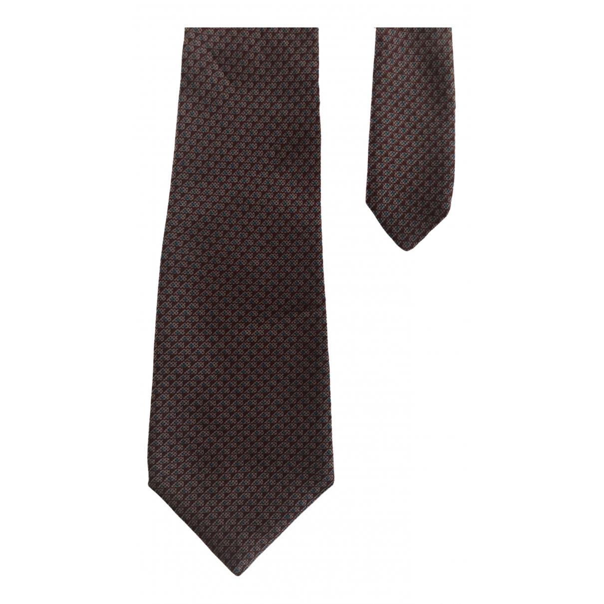 Lanvin \N Burgundy Silk Ties for Men \N