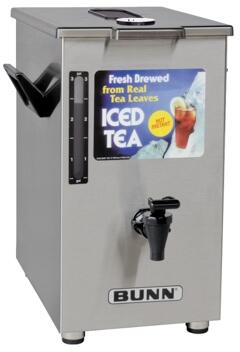 032500006 TD4T Dispenser Square Style Iced Tea And Coffee Dispenser With Brew-Through Lid  4Gal (15.1L) Capacity  Sight Gauge  in