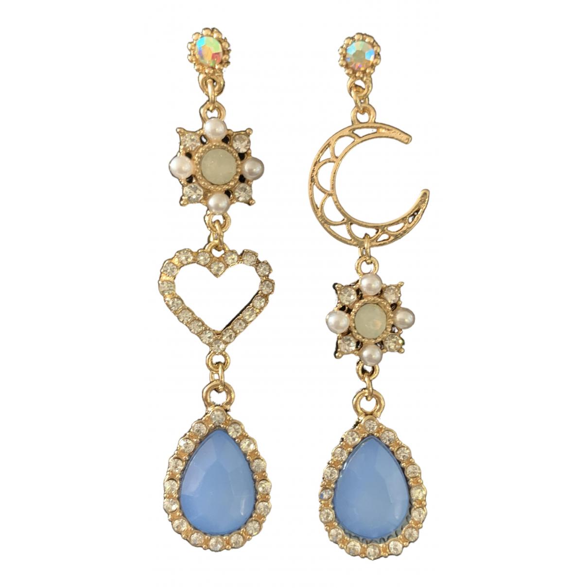 - Boucles doreilles Motifs Coeurs pour femme en metal - multicolore