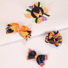 4 Stuecke Haarspangen mit Halloween Design