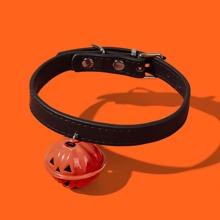 1 pieza collar de perro con campana de halloween